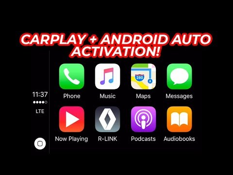 Apple CarPlay and Android Auto activation on Renault R Link 2 System