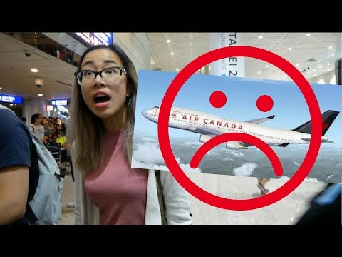 RUDE AIR CANADA FLIGHT ATTENDANT!