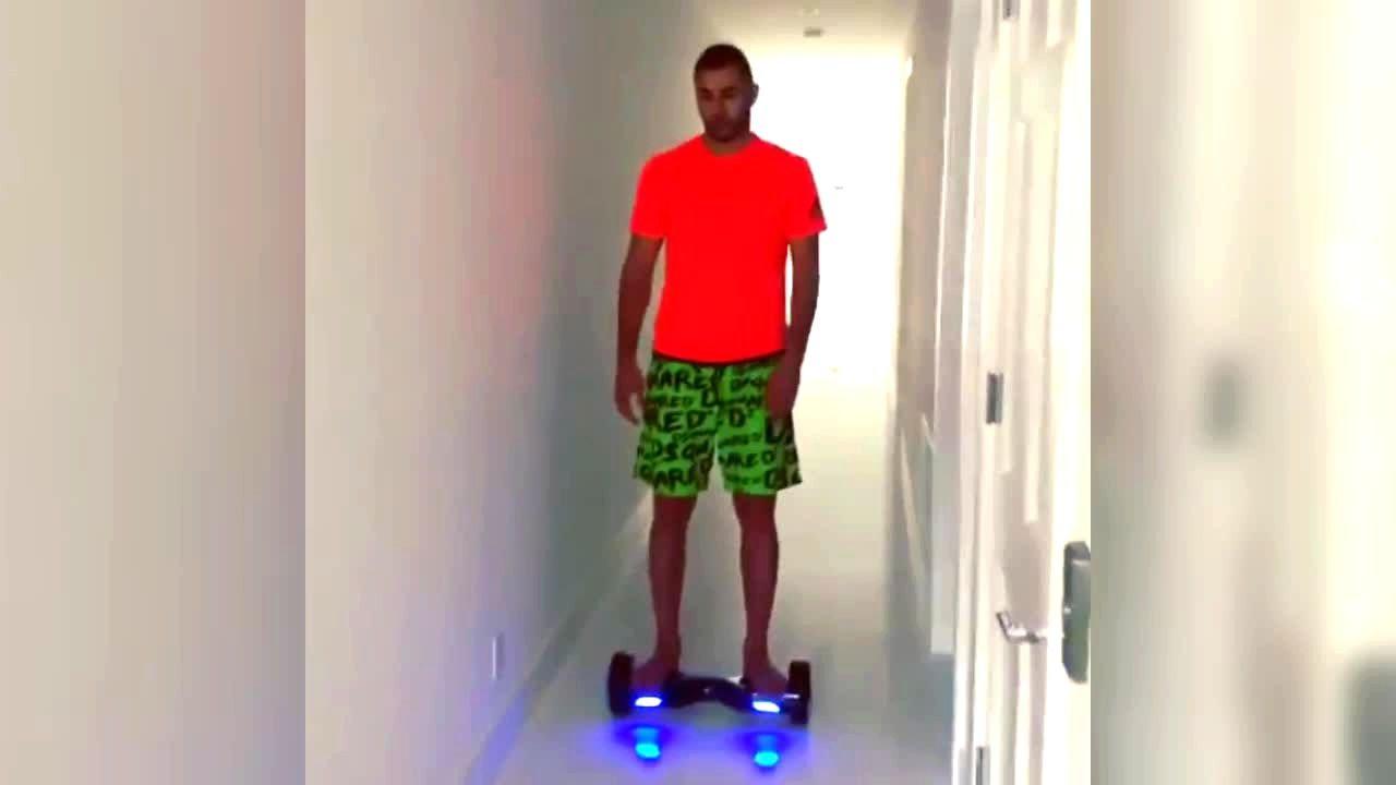 Karim Benzema on hoverboard Celebrities on hoverboards mega list 2016 best hoverboard brands