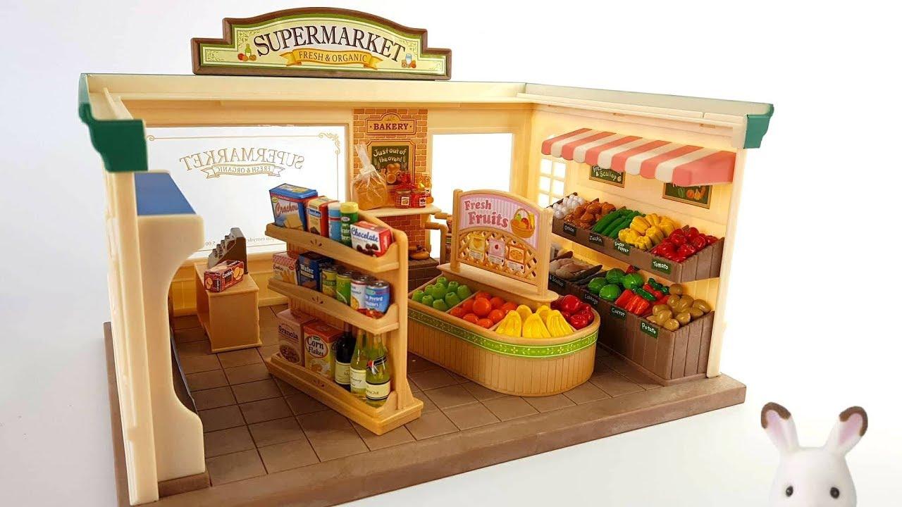 Sylvanian Families Supermarket Youtube