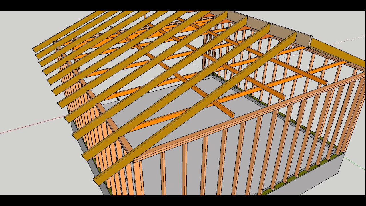Garage Rafter Ties Connecting To Top Framing Plates