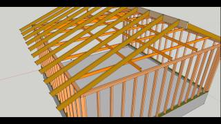 Garage Rafter Ties Connecting To Top Framing Plates Example