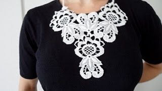 How to make a Lace Necklace - OWIMO Design Upcycling Thumbnail