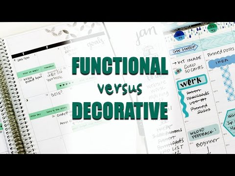 Decorative Vs. Functional Planning