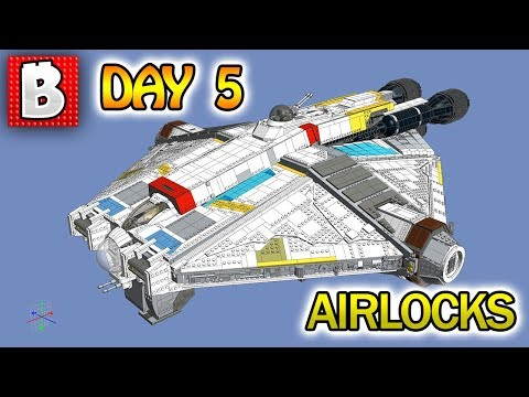 LEGO Star Wars UCS THE GHOST!!! Day 5: Center Frame and Airlocks | BrickVault LIVE