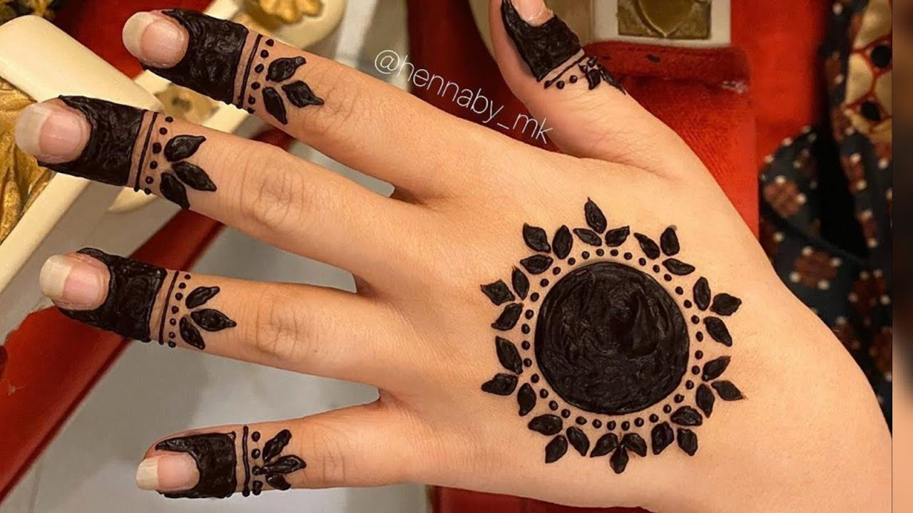 small arabic back side mehndi design simple