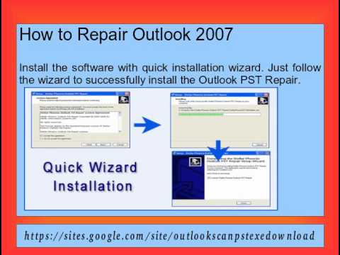 Outlook 2007 repair and recovery