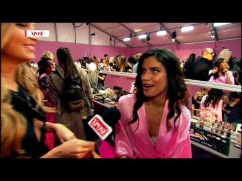 Romee Strijd & Sara Sampaio Talk Workouts And Yoga Backstage At Victoria's Secret 2016