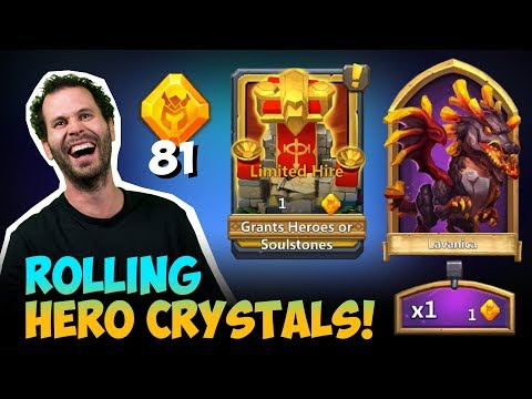 Rolling Hero Crystals Easy Lavanica Opening Rewards Castle Clash