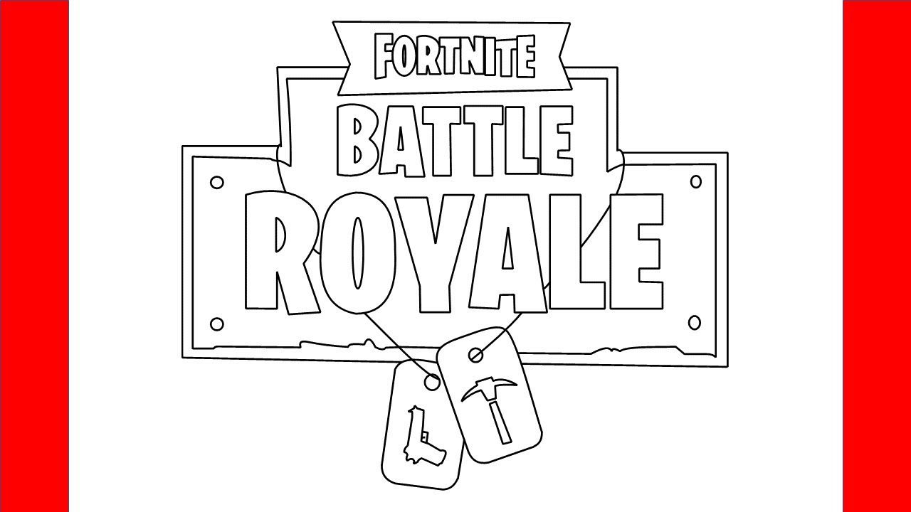 How To Draw The Fortnite Logo Step By Step