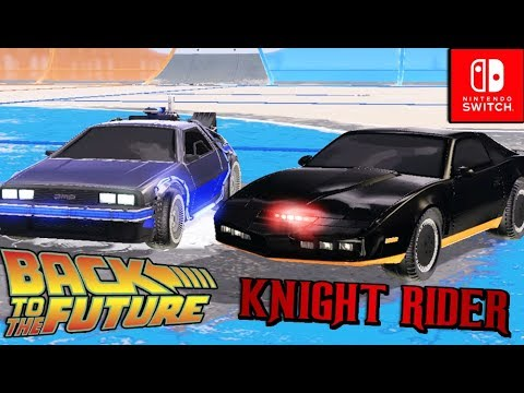 Rocket League DLC - Knight Rider Vs DOC Brown Back To The Future Car!