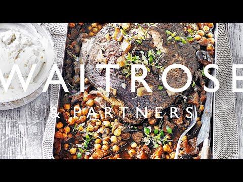Slow-cooked Lamb with Harissa Chickpeas & Feta Yogurt | Waitrose & Partners