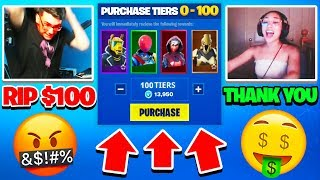 Every Death I GIFT Fortnite Streamers MAX Battle Pass... - Season 10