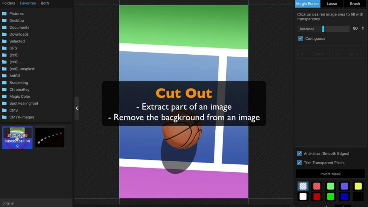 Cut Out - PhotoScape X 3 0