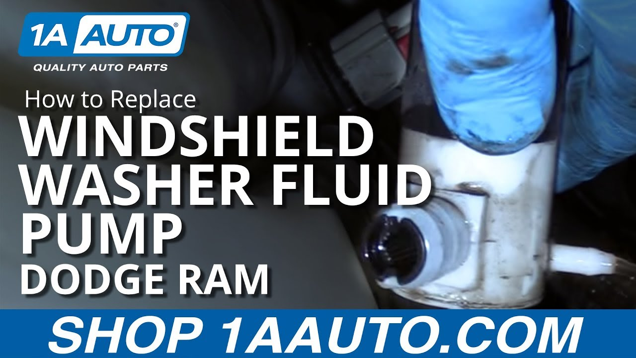 How To Replace Windshield Washer Fluid Pump 02 08 Dodge