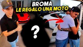 BR0MA: LE REGALO MOTO A MARCO Y ASÍ REACCIONA.. | ManuelRivera11