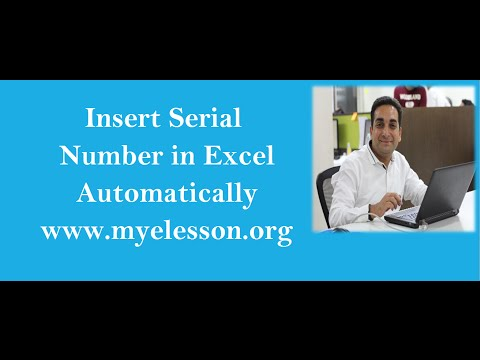 Automatically Insert Serial Number in Excel