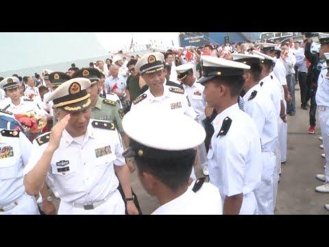 Chinese Naval Fleet Calls at Myanmar to Enhance Friendship