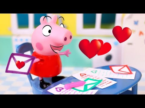 peppa-pig-en-san-valentín-❤️-peppa-pig-escribe-cartas-de-amistad-a-sus-amigos