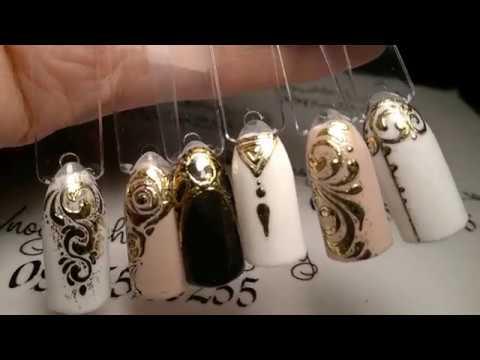фото ногтей с дизайном литье
