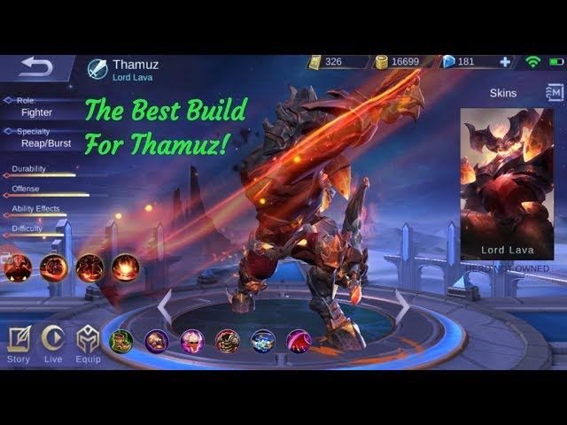 The Best Build For New Hero Thamus! OP Fighter auto win!
