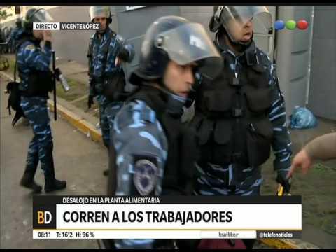 Represión a los trabajadores de PepsiCo - Telefe Noticias