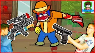 Огромный Босс в игре про зомби приключения видео для детей про мульт героя ЗОМБИ GIBZ
