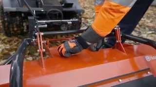Learn how to attach a flail mower to a Husqvarna P 524 Front Mower