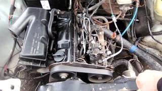 Работа двигателя Audi 80 B2 1985 1.6D дизель