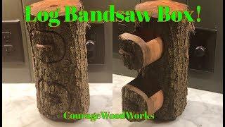 Log Bandsaw Box w/broken hand