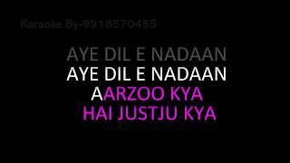 Aye Dil E Nadaan Karaoke Razia Sultan Lata Mangeshkar HQ