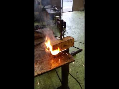 Wood welding in Iceland.