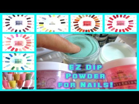 52 Weeks Of Beauty 2017 Week 10 Ez Dip Powder Nails New Concept Tutorial No Lamps You