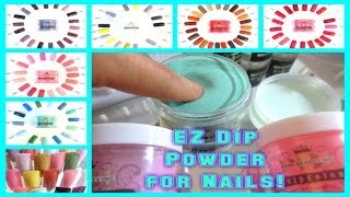 52 Weeks Of Beauty - 2014 Week 10 - Ez Dip Powder Nails - New Concept! Tutorial! No Lamps!