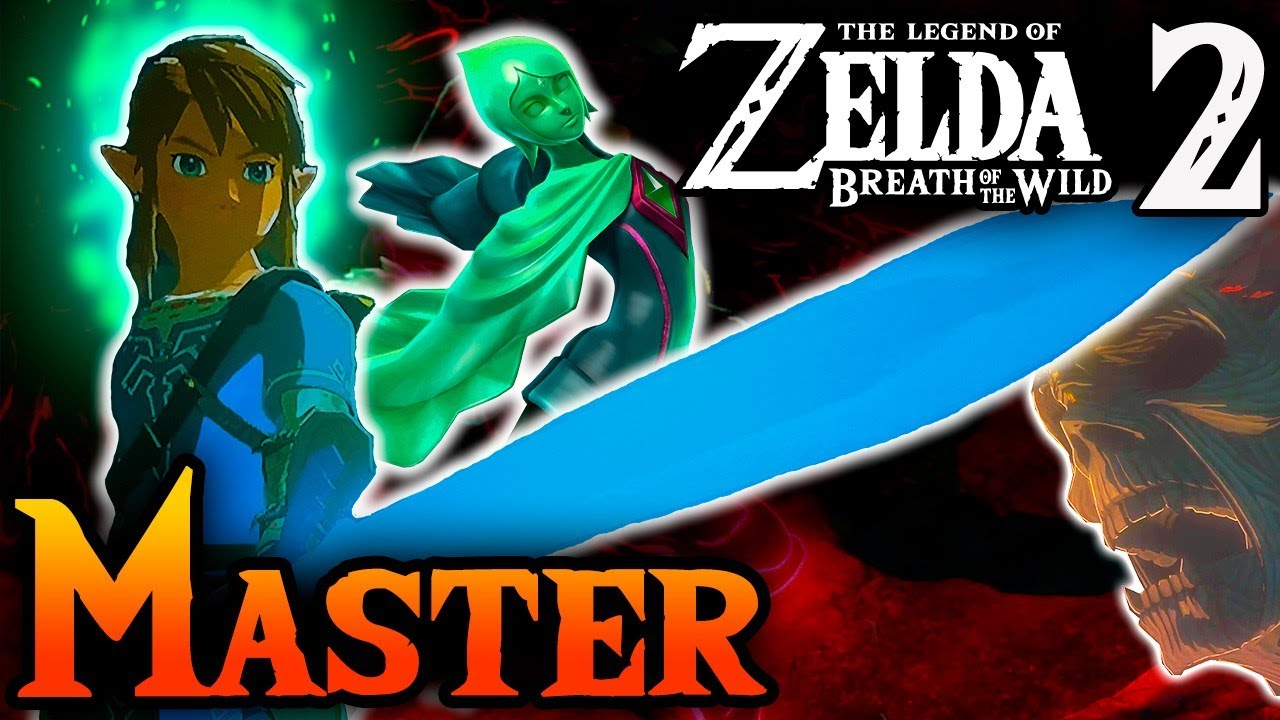 The Master Sword in Zelda Breath of the Wild 2