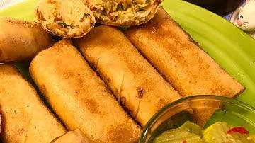 바삭바삭한 에그롤(춘권)스프링롤 튀김(에그롤)만드는법 베트남식당에서만 사먹던 그 맛 그대로How to make crispy shrimp spring rolls