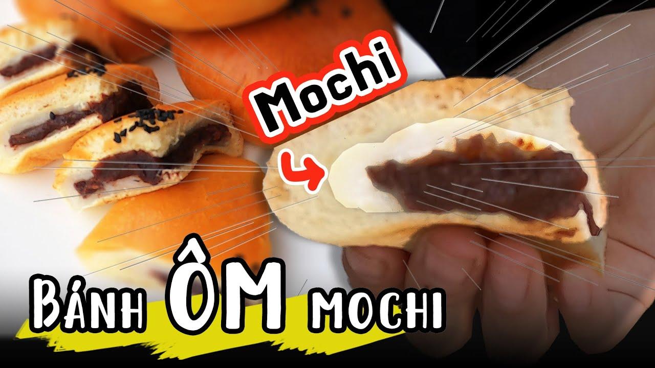 Cách làm Bánh nhân mochi đậu đỏ Bánh mì bán chạy nhất Hàn Quốc Bánh gạo Bánh ngọt Ăn mochi Mo chi