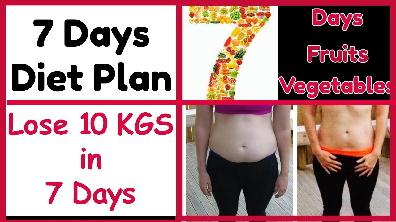 LOSE 10KG IN 7 DAYS Without Exercise   7 DAYS WEIGHT LOSS ...