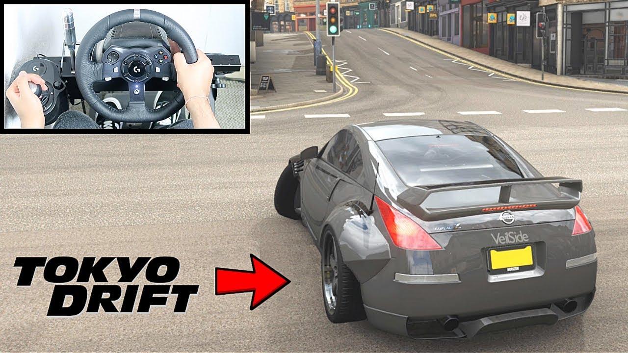 Forza Horizon 4 DK Nissan 350z (Steering Wheel + Shifter) Tokyo Drift Gameplay