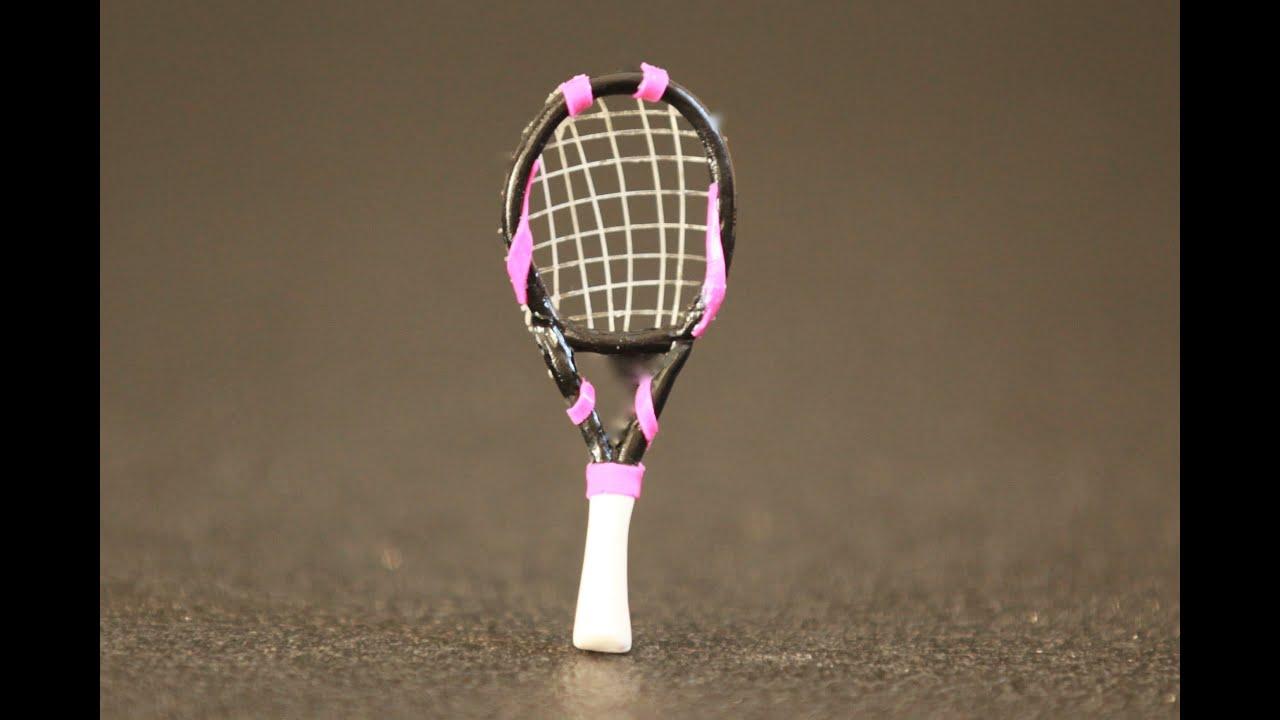 Raquette de tennis p te polym re polymer clay tuto fimo - Tuto de pate fimo ...