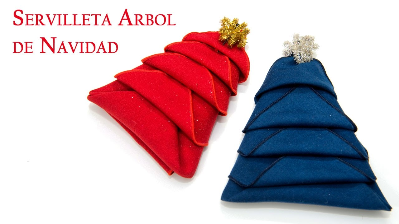 facilisima servilleta arbol de navidad de papel o tela