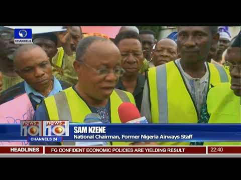Workers Welfare: Defunct Nigeria Airways Staff Protest Over Entitlements