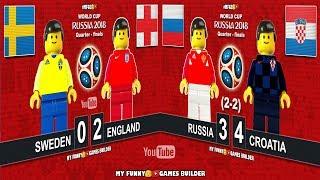 Sweden vs England 0-2 • Russia vs Croatia 3-4 (2-2) World Cup 2018 • Goals Highlights Lego Football