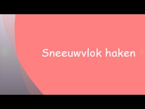 Sneeuwvlok Haken How To Crochet A Snowflake Youtube