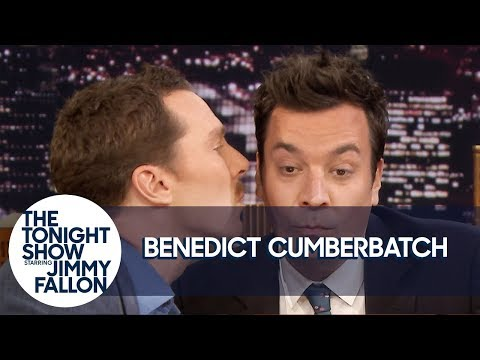 Benedict Cumberbatch Gives Jimmy a Kiss and Has Some Hot Sax