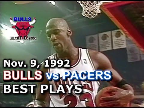 November 09 1992 Bulls vs Pacers highlights
