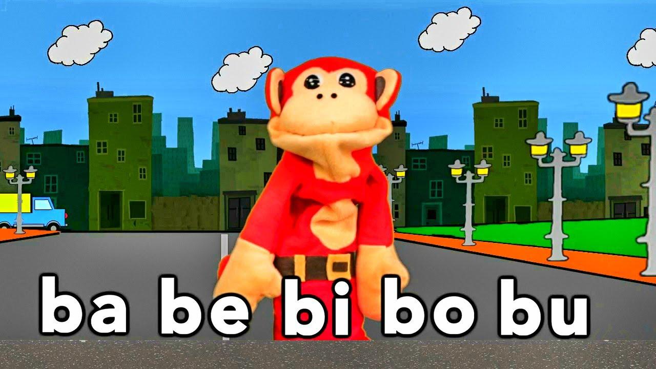 S labas ba be bi bo bu el mono s labo videos for Actividades para jardin infantil