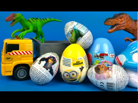 Animal Planet Dinosaurs Steal Surprise Eggs with TRex Triceratops Velociraptor Dino Toys for kids