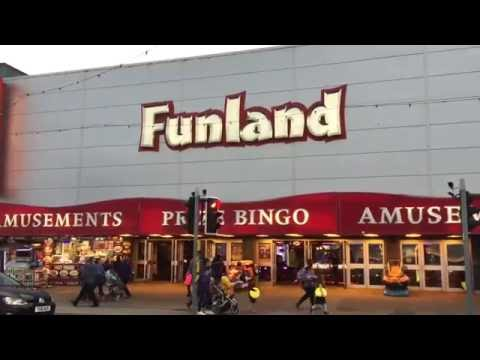 Blackpool Funland Amusement Arcade full walk through