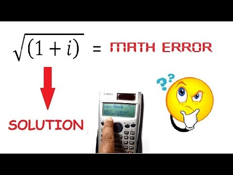 How To Use Scientific Calculator To Calculate Square Root Of Complex Numbers. Trick In Hindi.